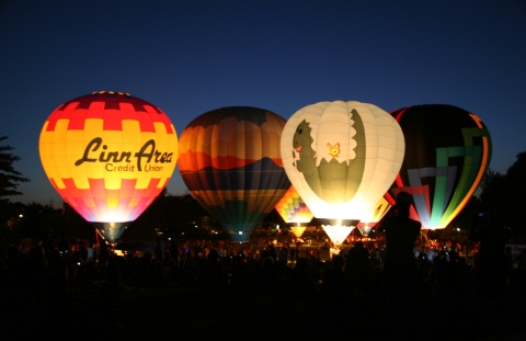 Freedom Festival balloon glow in Cedar Rapids