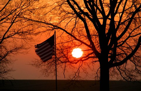 Linn County Conservation Flag Sunrise