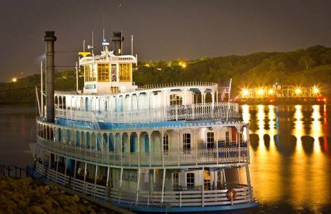 Riverboat at Twilight